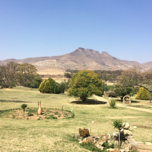 View from the stoep at the Moolmanshoek Farmhouse